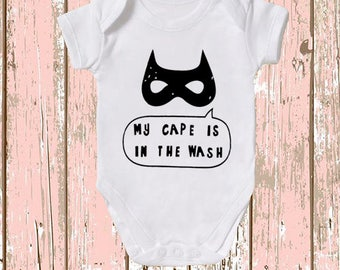 My cape is in the wash baby vest  , various sizes, funny nerd