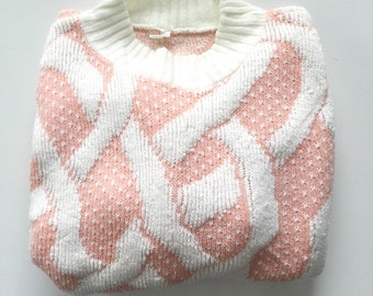 80's Baby Pink Sweater