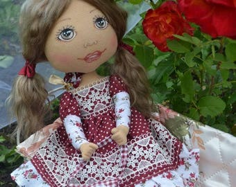Baby doll Interior doll Nursery doll Art doll Handmade doll Pink doll Tilda doll Soft doll Decor doll Cloth doll Rag doll Soft doll