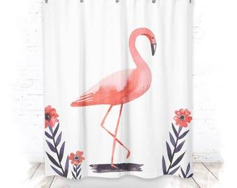 Shower curtain / Flamingo shower curtain 150cm