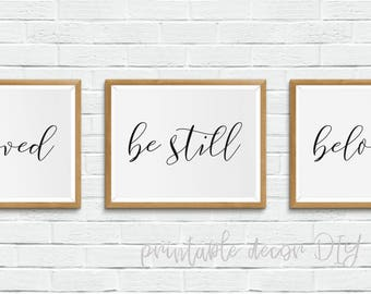 be still -Printable bible verse, scripture printable, above bed decor, minimalist poster, printable scripture