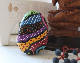 African painted stone