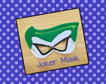 Joker Inspired Mask-Child's Dress Up Imaginary Play-Halloween Costume-Pretend Play-Photo Prop-Birthday Party Favor-Theme Party-Child's Gift