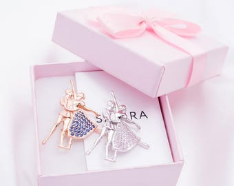 Ballet Brooch-Ballet Gift-Ballerina Gift-Art Brooch-Dancer Brooch-Odette Brooch-Dancer Gift