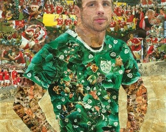 Tommy Bowe of Ireland Rugby Collage Poster