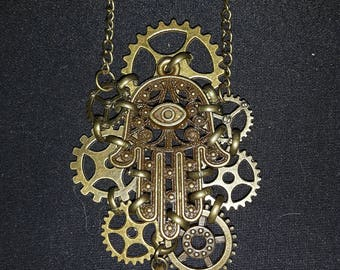 Steampunk inspired Palm gear cluster
