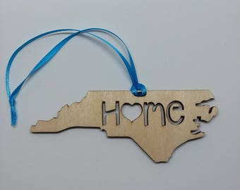 NC is my home, NC Ornament, NC State Ornament, nc Christmas ornament, i love nc, i love nc ornament, nc is where my heart is, nc holiday