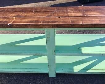 Rustic Farmhouse Entryway Table