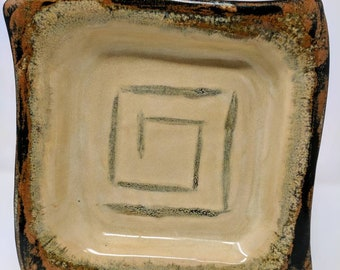 Captain Fantastic and the Brown Dirt Cowboy Series Asymmetrical Stoneware Plate