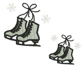 NeedleUp - Ice skates embroidery design