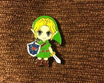 the legend of Zelda Link hat pin