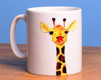 Giraffe - a charming ceramic mug from artist's original image