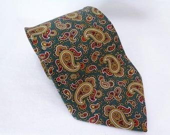 """VJ417 : """"IL"""" Silk necktie,Pure Silk IL Necktie, High-quality silk necktie, vtg ,made in Italy"""