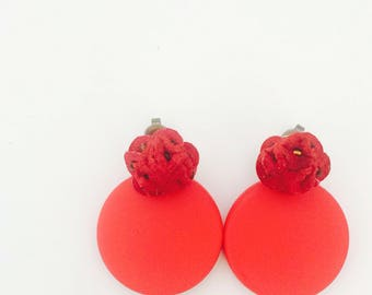 Red Leather Flowers