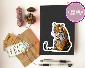 Jungle Animals|Birthday Gift,Boyfriend gift,Christmas Gift,Jungle Animals,Tiger,Notebook stickers,Biology Gift,Bullet Journal,Kids Gift