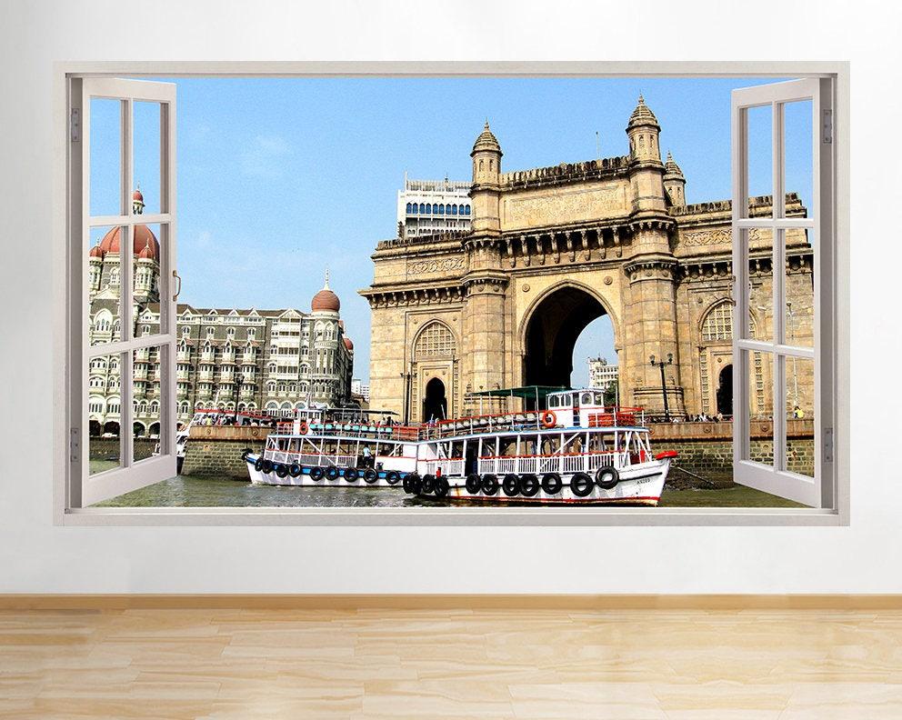 R Amenities Landmark Mumbai Cool Window Wall Decal D Art - Wall decals mumbai