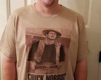 John Wayne and Chuck Norris tee