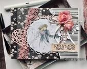 Luxury handmade wedding card in a box - designer card - married couple wedding gift - designer card - striking card