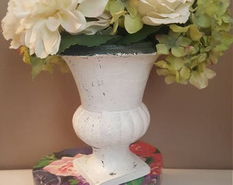 Love vase with flowers