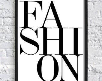 Fashion;Wall Art;Wall Hanging;Home Decor;Poster;Vogue;Print;Picture;Minimal