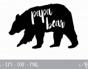 Papa Bear SVG Cut File - svg, eps, dxf, png