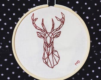 Deer Contemporary Embroidery