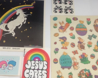 Big Lot Of Vintage 1980s 80s Stickers #20