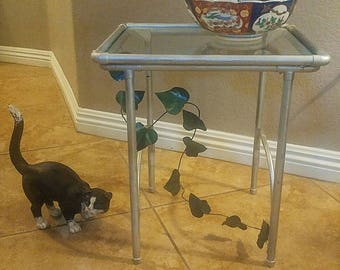 Metal End Table or Plant Stand.