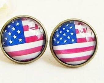 Fourth of july stud earrings