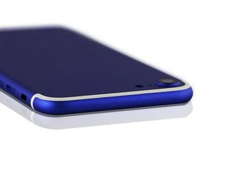 iPhone 7 Blue with White Lines
