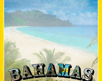 """Bahamas Custom Selected 12"""" x 12"""" Scrapbook Paper Set Caribbean Islands Paradise Beach Themed Travel Vacation Papers - Our Favorites"""