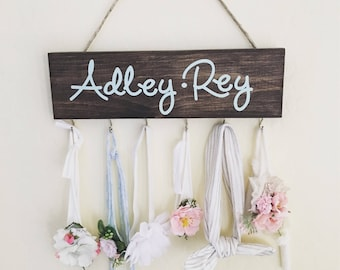 Wood Sign // Headband/Necklace Organizer