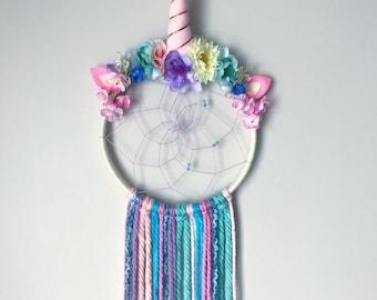 Unicorn Dreamcatcher, Unicorn Dreamcatcher, little girls room unicorn decor, unicorn theme, unicorn gift, magical, unicorn birthday