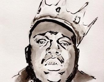 Portrait of Notorious Big