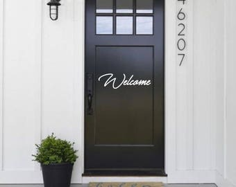 Welcome Door Decal, Welcome Sticker, Home Decal, Door Sticker, Welcome Decal, Welcome Home Sticker, Home Décor, Door Décor, Door Decals