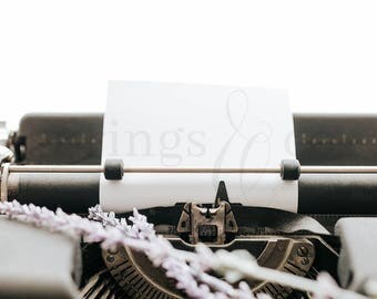 Typewriter Styled Stock Photography Lavender Styled Stock Photo Social Media Styled Stock Photo Business Styled Stock Photo Mockup - 0008
