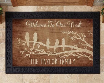 PERSONALIZED DOOR MAT - Makes a great gift for Newlyweds, Housewarming, Mothers Day and so much more!