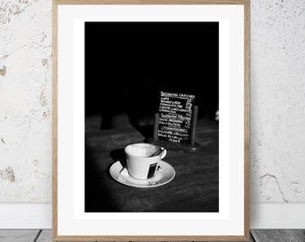 Cafe Decorations, Cafe Art Decor, Paris Illustrations, Cafe Wall Art Print, Cafe Decor, French Cafe Wall Art, Parisian Wall Prints Cafe sign