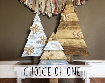 Rustic Wood Christmas Trees - Choice of ONE // Wood Christmas Tree // Christmas Decor // Winter Decor // Farmhouse Decor