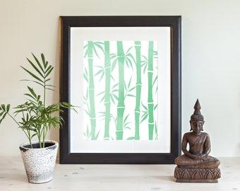 Bamboo Wall Decor bamboo wall decor | etsy