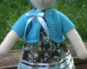 Knitted bear Lisa
