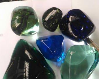 6pcs mix color andara crystal polished 3.2 kgs
