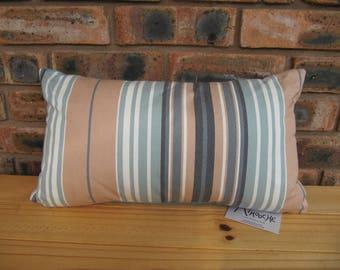 Handmade cushion - turquoise stripe