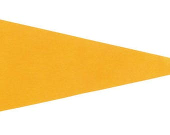 12 Yellow Felt Blank Pennant Flag