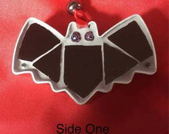 Mosaic bat hanging decoration. Ideal gift for Christmas, birthday or Halloween.