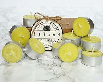 apple crumble and custard scented soy tea lights