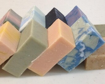 Quantity -10- Assorted Soaps with Shea Butter- Wedding, Baby Shower, Travel, Guest Soap Favor