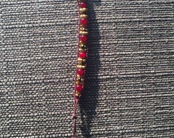 Adjustable Handmade Beaded Bracelet