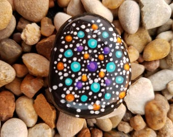 Painted stones, original art, handmade, zen, boho, unique