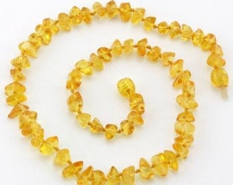Honey Chips Baltic Amber Teething Necklace